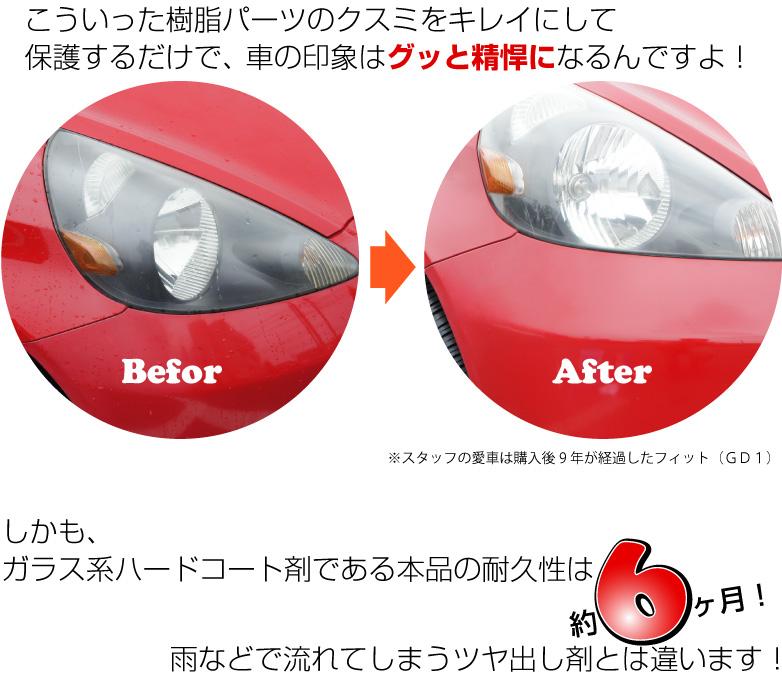 ページヘッドライト&樹脂パーツコート